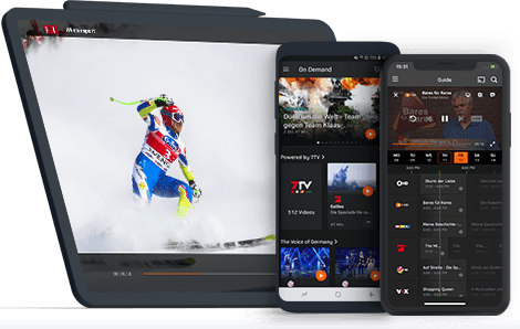 If Smartphone or Tablet; Zattoo brings you TV for mobile usage.