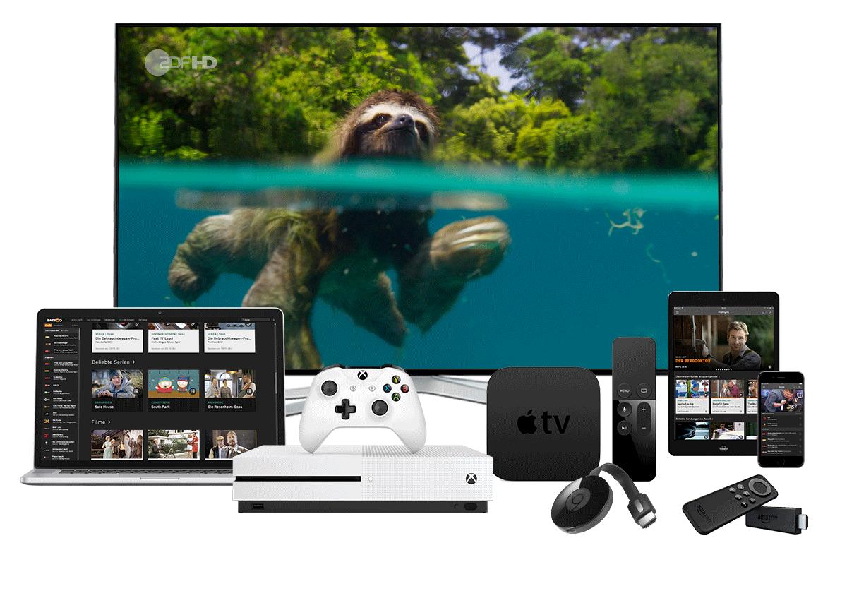 TV wann und wo du willst mit Zattoo für jeden Bildschirm.